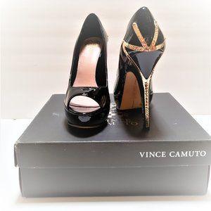 Vince Camuto Shoes - Vince Camuto Black patent  leather platform shoes